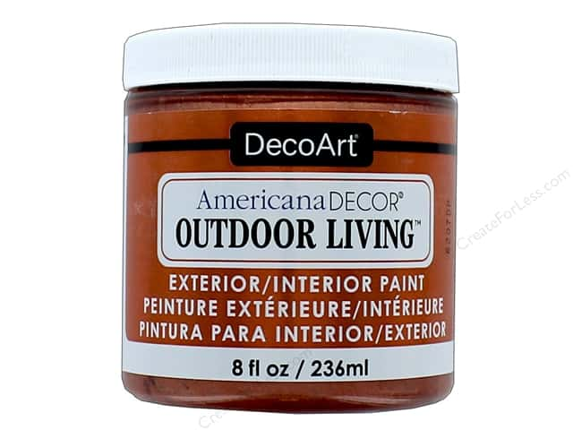DecoArt Americana Decor Outdoor Living Exterior/Interior Paint 8 oz. Metallic Copper