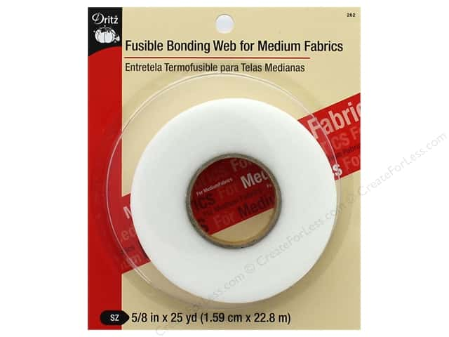 "Dritz Fusible Bonding Web For Medium Fabrics 5/8""x 25yd White"