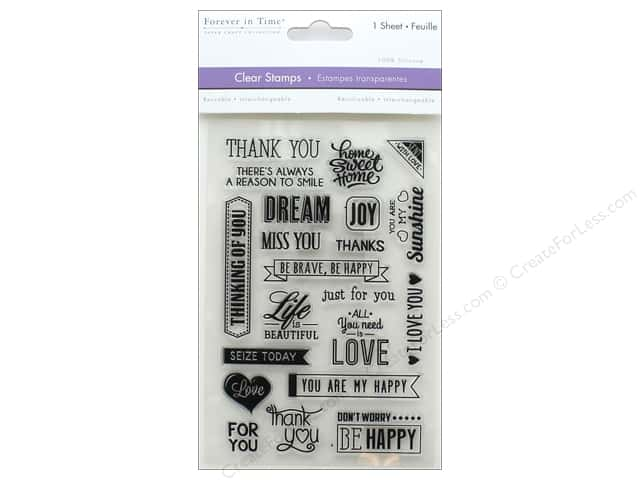 Multicraft Rubber Stamp Pack Clear Sentiments