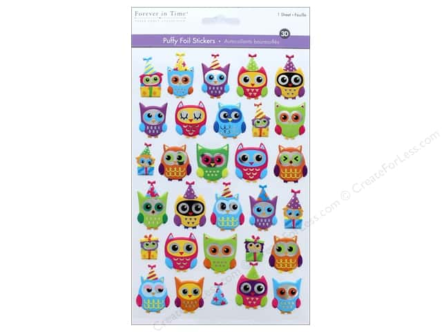 Multicraft Sticker Foil Puffy Owl Jubilee