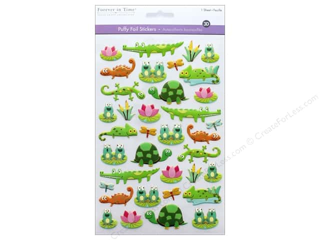 Multicraft Sticker Foil Puffy Pond Pals
