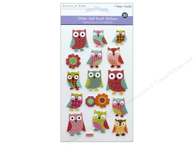Multicraft Sticker Glitter Soft Touch Owl