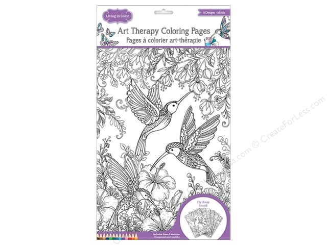 Multicraft Living In Color Art Therapy Color Pages Fly Away