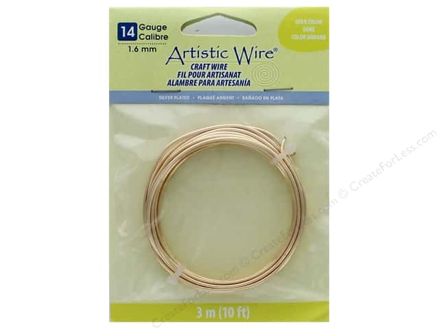 Artistic Wire 14 ga. Copper Wire 10 ft. Silver Plated Gold