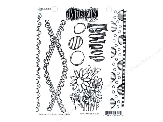 Ranger Dylusions Cling Mount Stamps Anatomy Of A Page