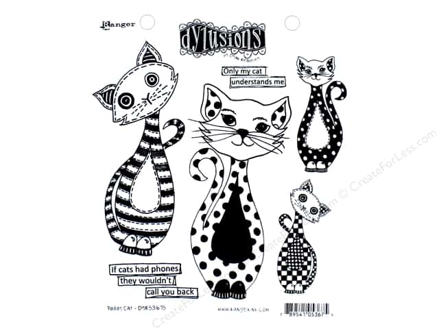 Ranger Stamp Dylusions Puddy Cat