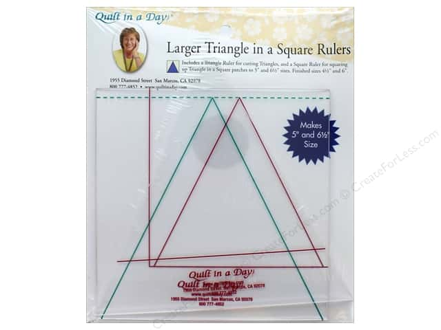 Quilt In A Day Ruler Larger Triangle In A Square