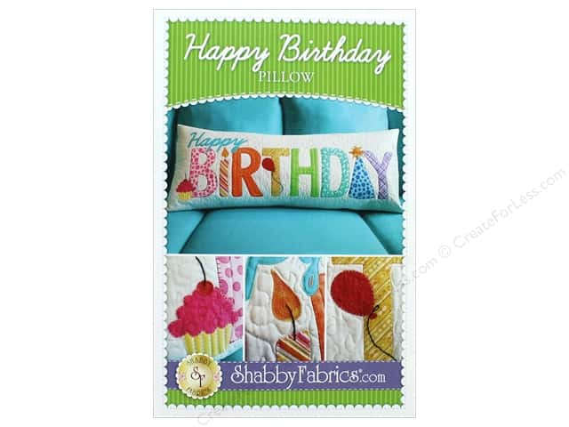 Shabby Fabrics Pillow Happy Birthday Pattern