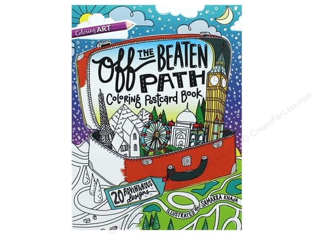 Off the Beaten Path Coloring Postcard Book: 20 Adventurous Designs by Samarra Khaja