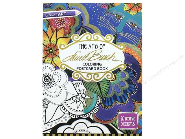 The Art of Laurel Burch Coloring Postcard Book: 20 Iconic Designs