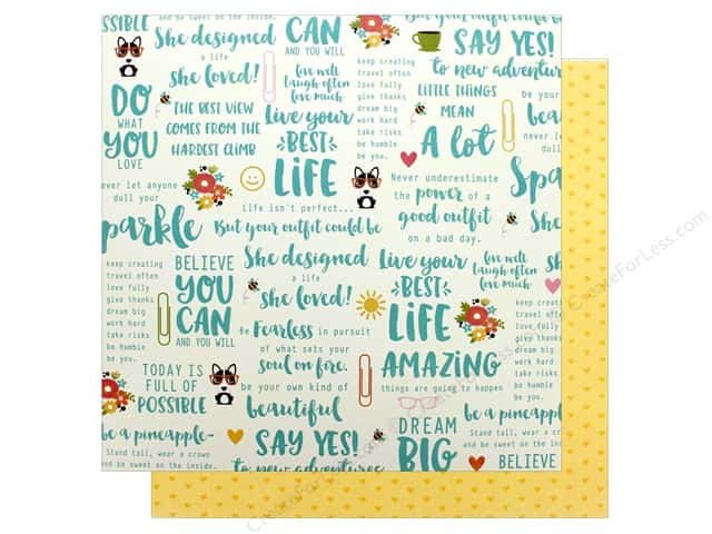 """Jillibean Soup Collection Chit Chat Chowder Paper 12""""x 12"""" Churned Chit Chat (25 pieces)"""
