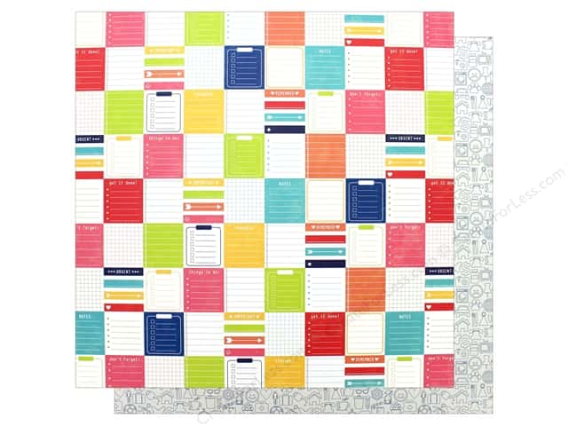 """Jillibean Soup Collection Chit Chat Chowder Paper 12""""x 12"""" Sifted Speak (25 pieces)"""