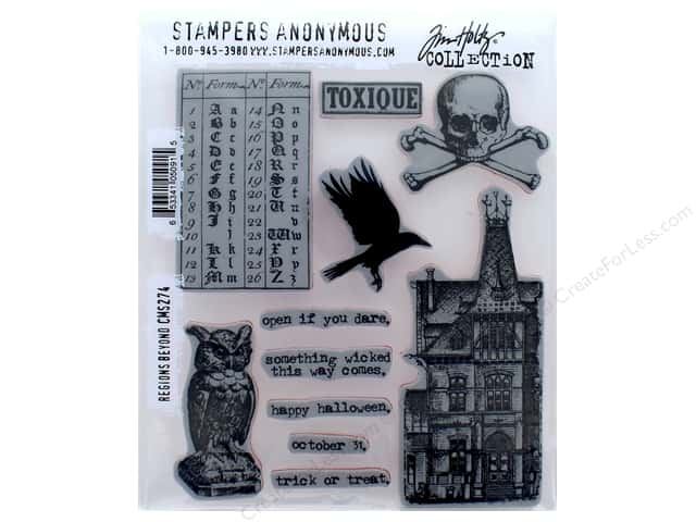 Tim Holtz Cling Mount Stamp Set 11 pc. Regions Beyond