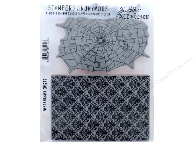 Tim Holtz Cling Mount Stamp Set 2 pc. Webs & Damask