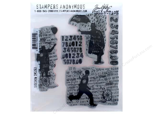 Tim Holtz Cling Mount Stamp Set 5 pc. Sideshow