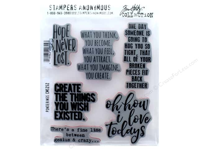 Tim Holtz Cling Mount Stamp Set 6 pc. Ponderings
