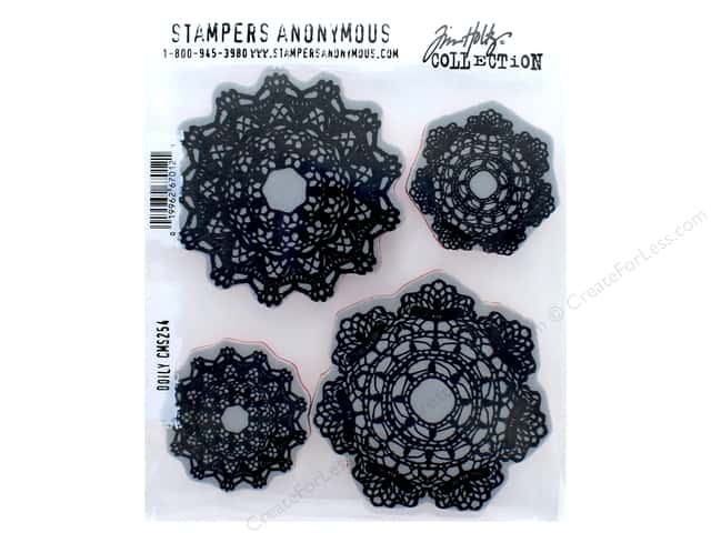 Tim Holtz Cling Mount Stamp Set 4 pc. Doily