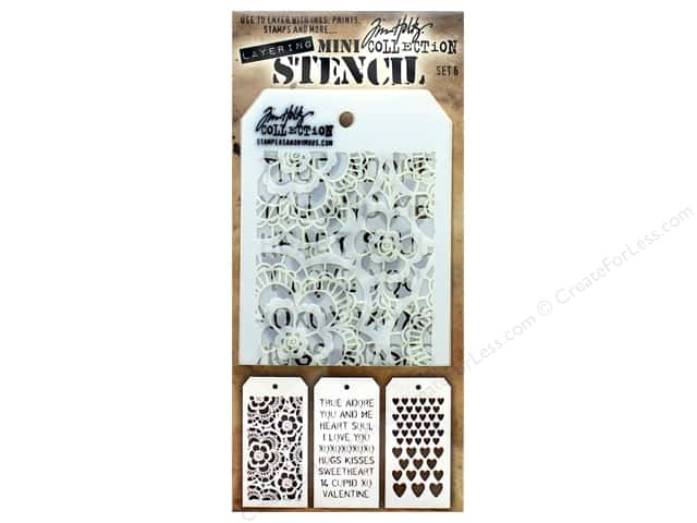 Tim Holtz Layering Stencil Set Mini #6