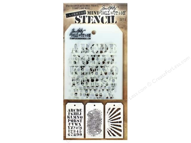 Tim Holtz Layering Stencil Set Mini #5
