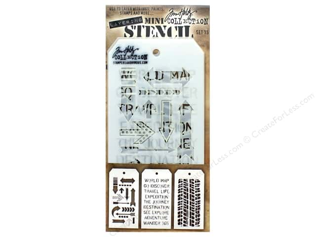 Stampers Anonymous Tim Holtz Layering Mini Stencil Set #15