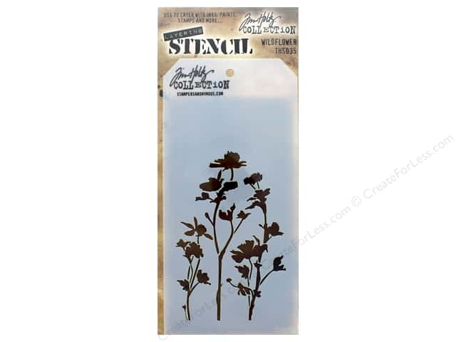Tim Holtz Layering Stencil Wildflower