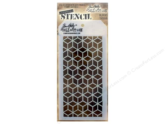 Stampers Anonymous Tim Holtz Layering Stencil - Blocks