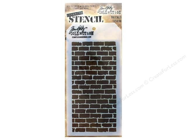 Tim Holtz Layering Stencil Bricked