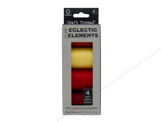 Coats & Clark Tim Holtz Eclectic Elements Craft Thread #1 4pc