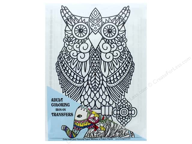The Bead Giant Iron On Transfer Owl