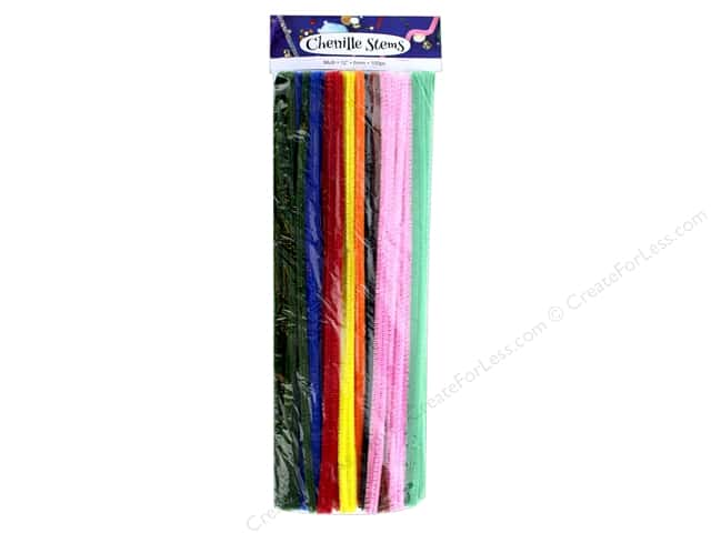 PA Essentials Chenille Stems 6 mm x 12 in. Multi 100 pc.