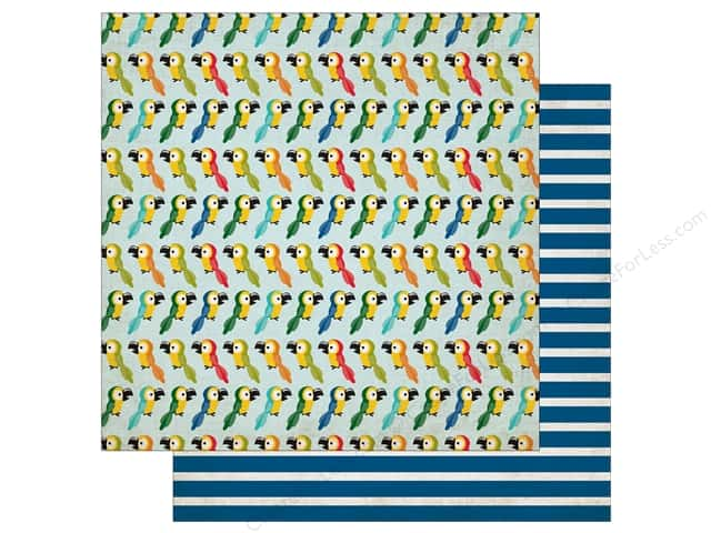 Echo Park 12 x 12 in. Paper Jungle Safari Collection Pretty Parrots (25 pieces)