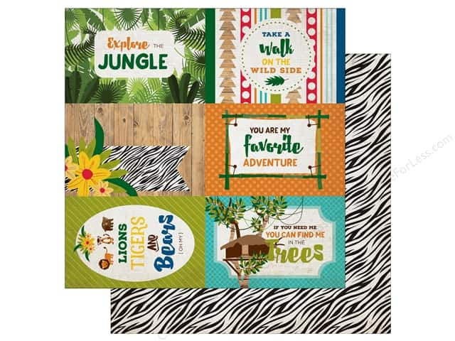 Echo Park 12 x 12 in. Paper Jungle Safari Collection 4X6 Journaling Cards (25 pieces)