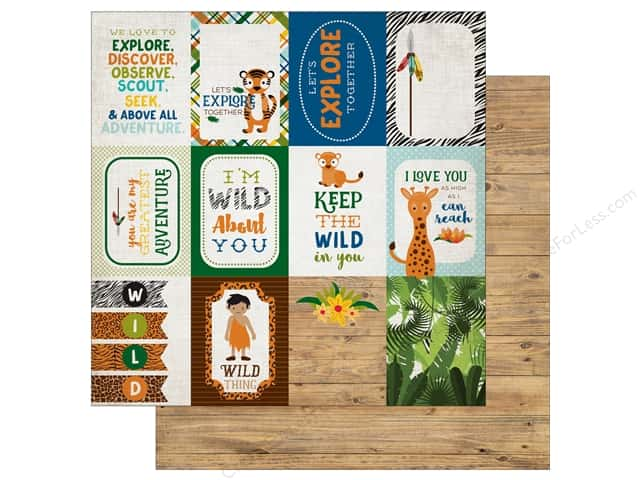 Echo Park 12 x 12 in. Paper Jungle Safari Collection 3X4 Journaling Cards (25 pieces)