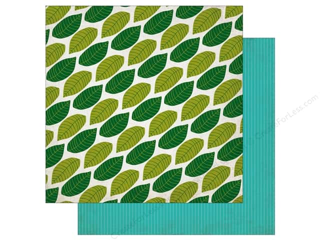 Echo Park 12 x 12 in. Paper Jungle Safari Collection Canopy Leaves (25 pieces)