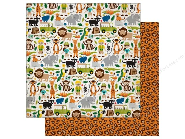 Echo Park 12 x 12 in. Paper Jungle Safari Collection Jungle Adventure (25 pieces)
