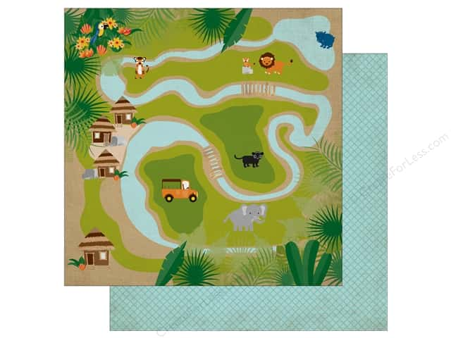 Echo Park 12 x 12 in. Paper Jungle Safari Collection Jungle Map (25 pieces)