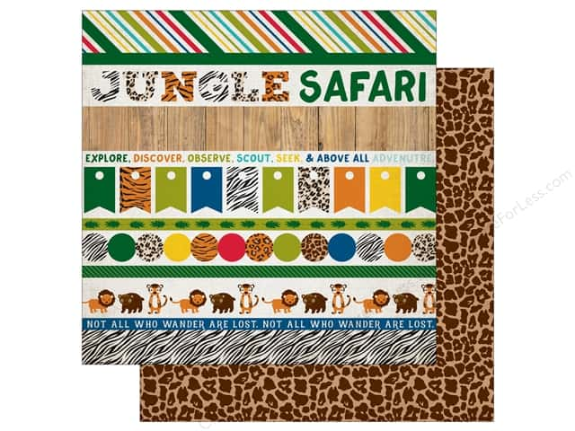 Echo Park 12 x 12 in. Paper Jungle Safari Collection Border Strips (25 pieces)