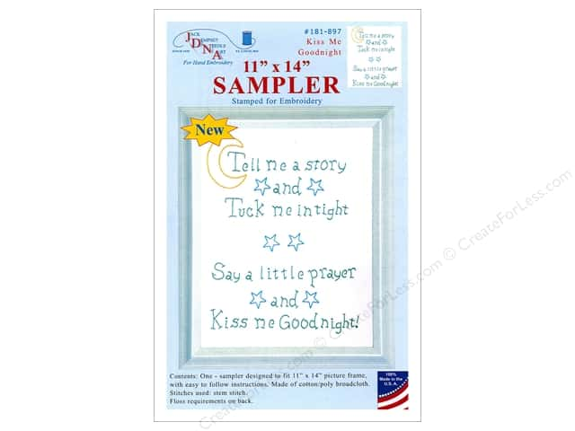 Jack Dempsey Sampler 11  in. x 14  in.  Kiss Me Goodnight Wht