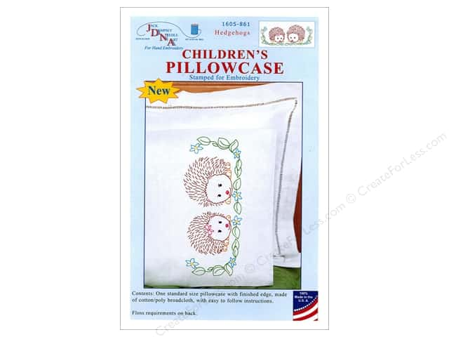 Jack Dempsey Children's Pillowcase - Hedgehogs