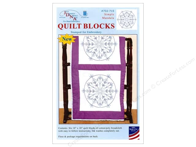 Jack Dempsey Quilt Block 18 in. White Simple Mandala 6 pc