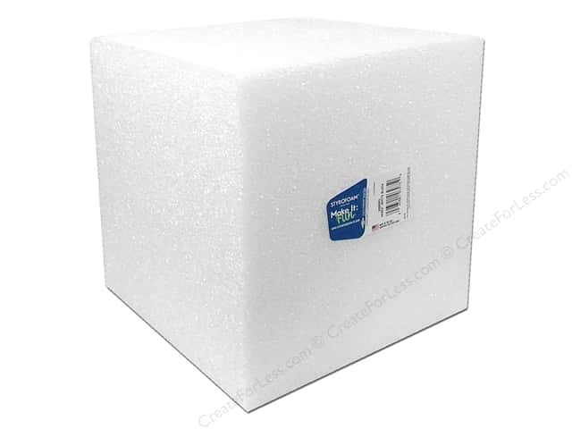 FloraCraft Styrofoam Cube - 8 x 8 x 8 in. White