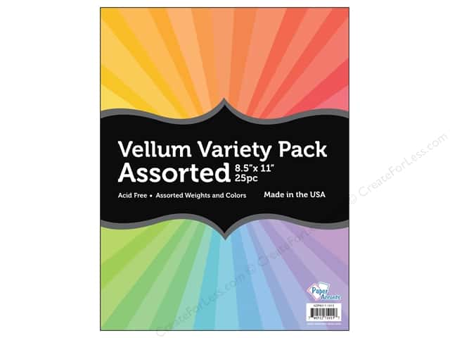 Cardstock Variety Pack by Paper Accents 8 1/2 x 11 in. Assorted Vellum 25 pc.
