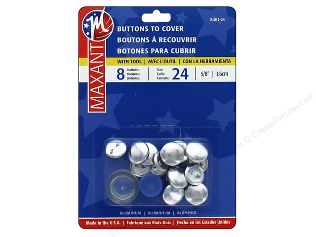 Maxant Cover Button Kit 5/8 in. 8 pc.