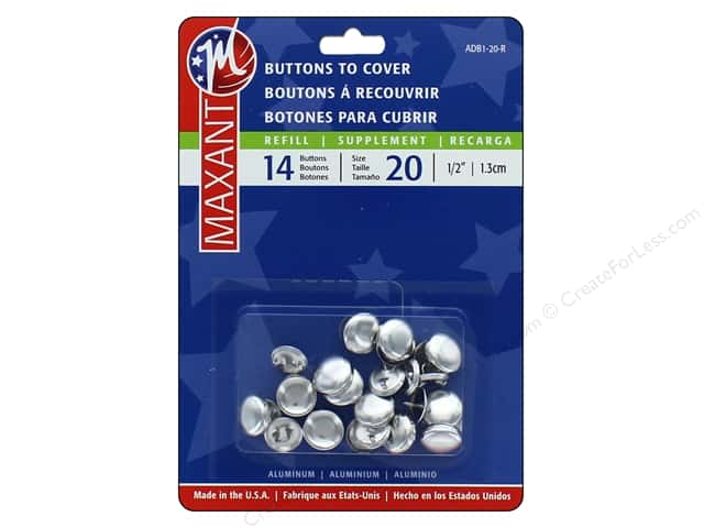 Maxant Cover Button Refills 1/2 in. 14 pc.