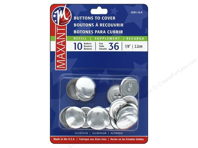 Maxant Cover Button Refills 7/8 in. 10 pc.