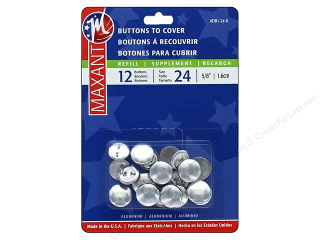 Maxant Cover Button Refills 5/8 in. 12 pc.