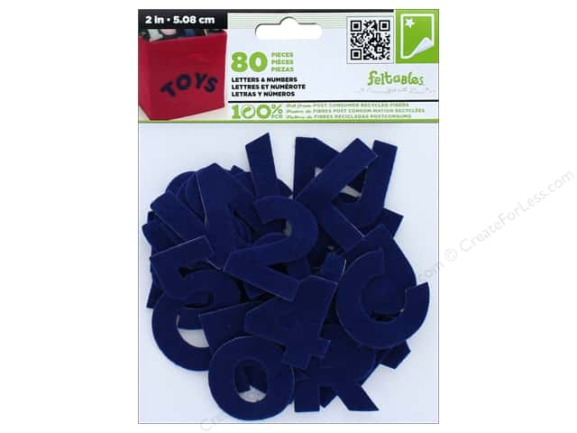 CPE Stick-It Felt Letters & Numbers 2 in. Royal