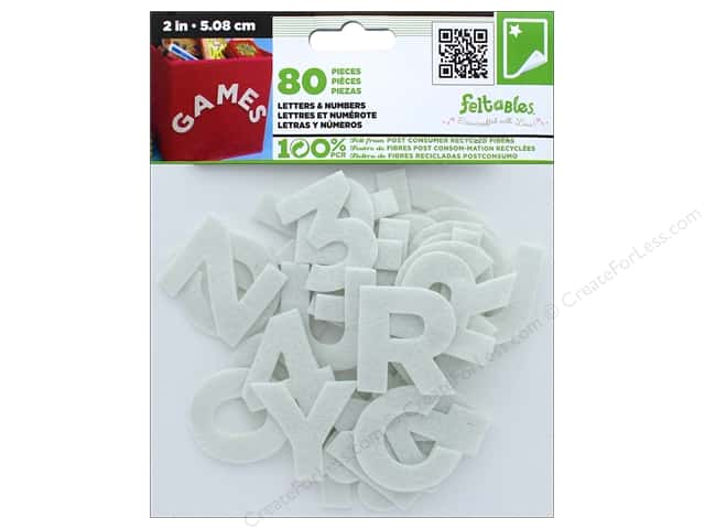 CPE Stick-It Felt Letters & Numbers 2 in. White
