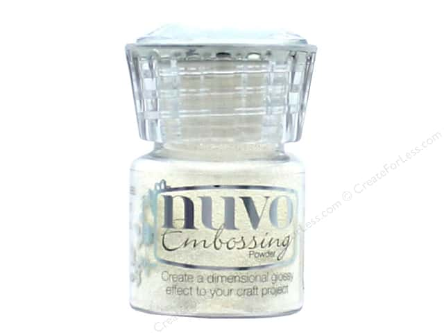 Nuvo Embossing Powder .7oz Glacier White