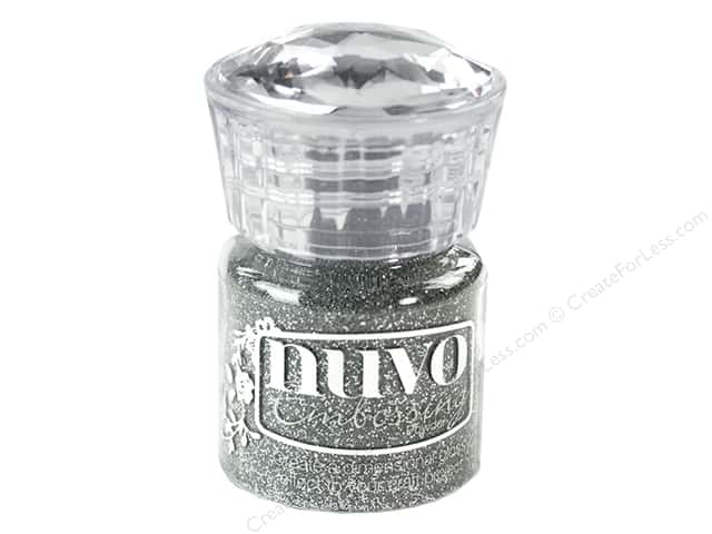 Nuvo Embossing Powder .7oz Glitter Silver Moonlight